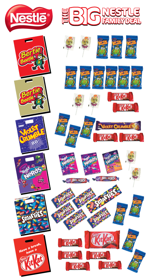 Big nestle family deal chicane showbags for Family deal com