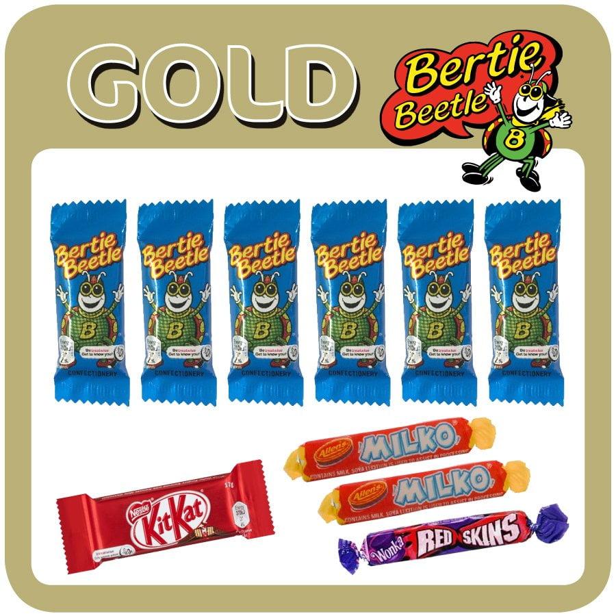 Bertie Beetle Gold Showbag is $3