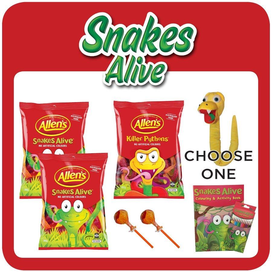 Snakes Alive $5 Showbag
