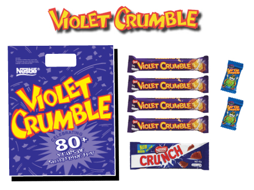 violet crumble showbag