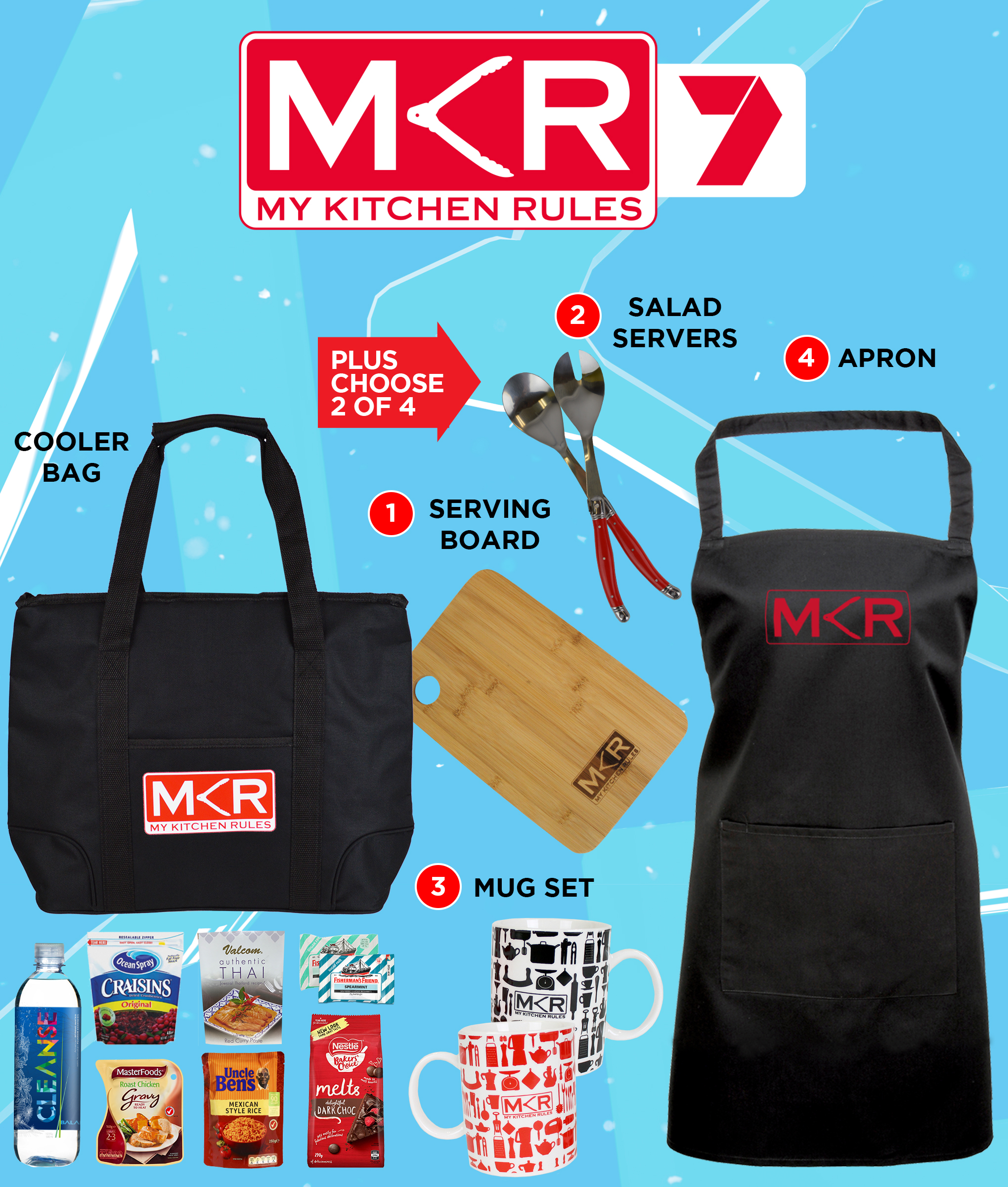 My kitchen rules showbag easter show 2018 chicane showbags for Y kitchen rules 2018