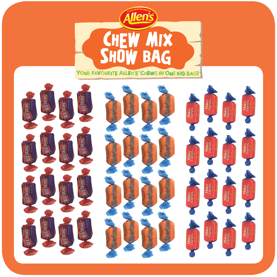 Allen's Chew Mix $5 Showbag